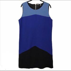 Tahari color block shift dress